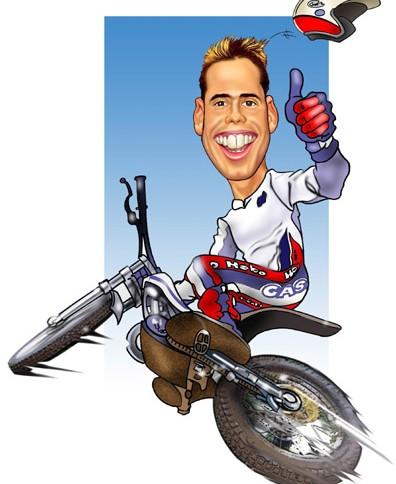 Concours de caricature d 39 adam raga trial magazine - Dessin moto trial ...