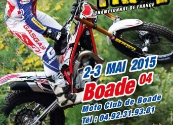 Championnat de France FFM de Trial 2015 à Boade (04) les 2 et 3 mai 2015