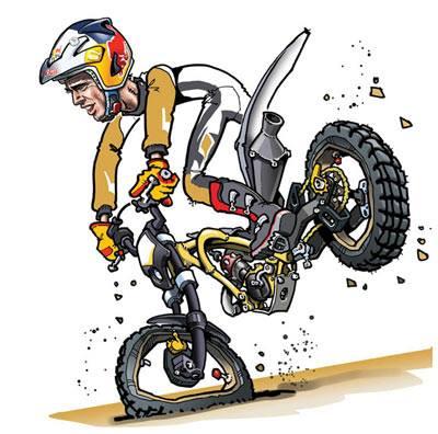 Le trial est un art vos crayons pour un concours - Dessin moto trial ...